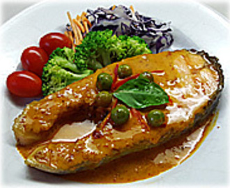 THAI SALMON STEAK WITH RED CURRY SAUCE