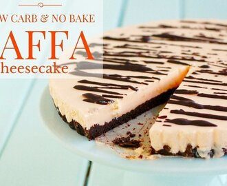 Low Carb No Bake Jaffa Cheesecake