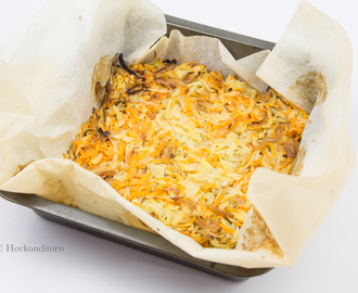 Sweet potato Hash Browns in the oven