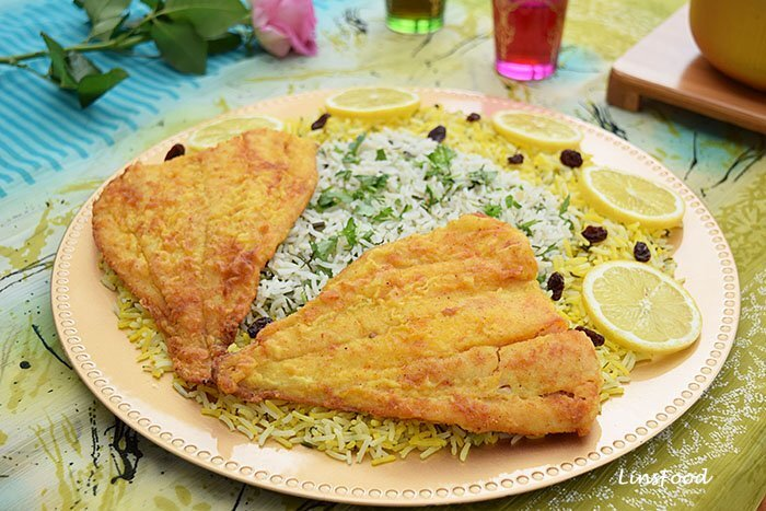 Sabzi Polo Mahi (Persian Herbed Rice with Fish)