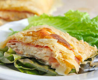 Puff Pastry Chicken Cordon Bleu