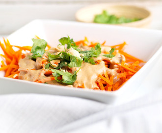 Sweet Potato Noodles with 5-minute Peanut Sauce