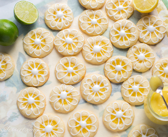 Lemon-Lime Shortbread Thumbprint Cookies