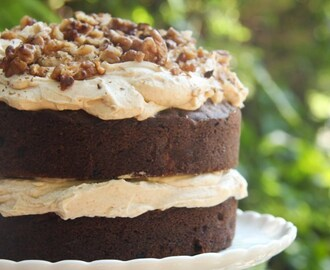 Carrot Cake with a Spiced Maple Cream Cheese Frosting