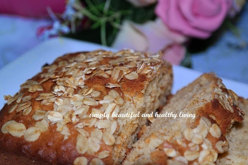 Rolled Oat Apple Bread/Cake