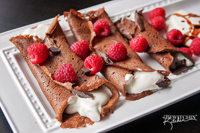 Healthy Chocolate Crepes {Gluten and Grain Free}