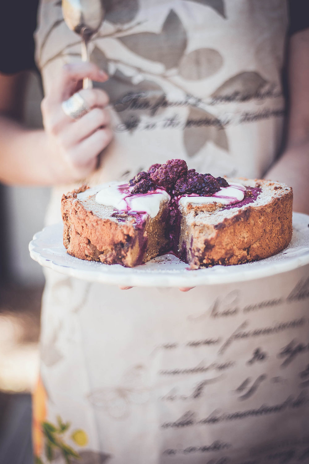 Kumara and boysenberry cake – gluten free