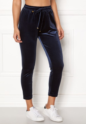 Happy Holly Pearl velour pants Dark blue 44/46