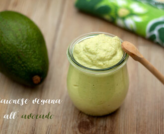 Maionese vegana all'avocado #raw #glutenfree #senzauova