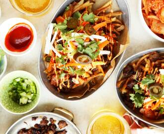 Loaded Idaho Potato Kimchi Fries