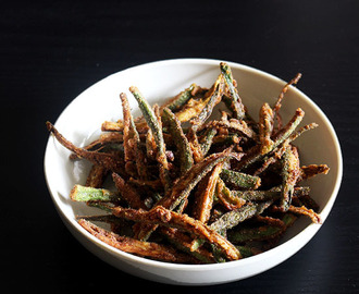Kurkuri bhindi recipe (Crispy fried bhindi)