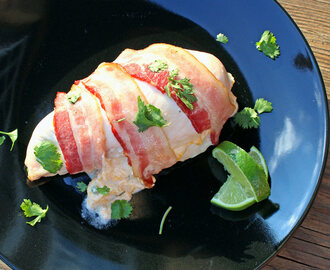 Bacon Wrapped Jalapeno Popper Stuffed Chicken Breasts