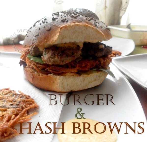 Pain Burger maison & Hash browns