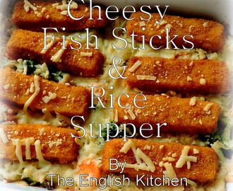 Cheesy Fish Sticks & Rice Supper