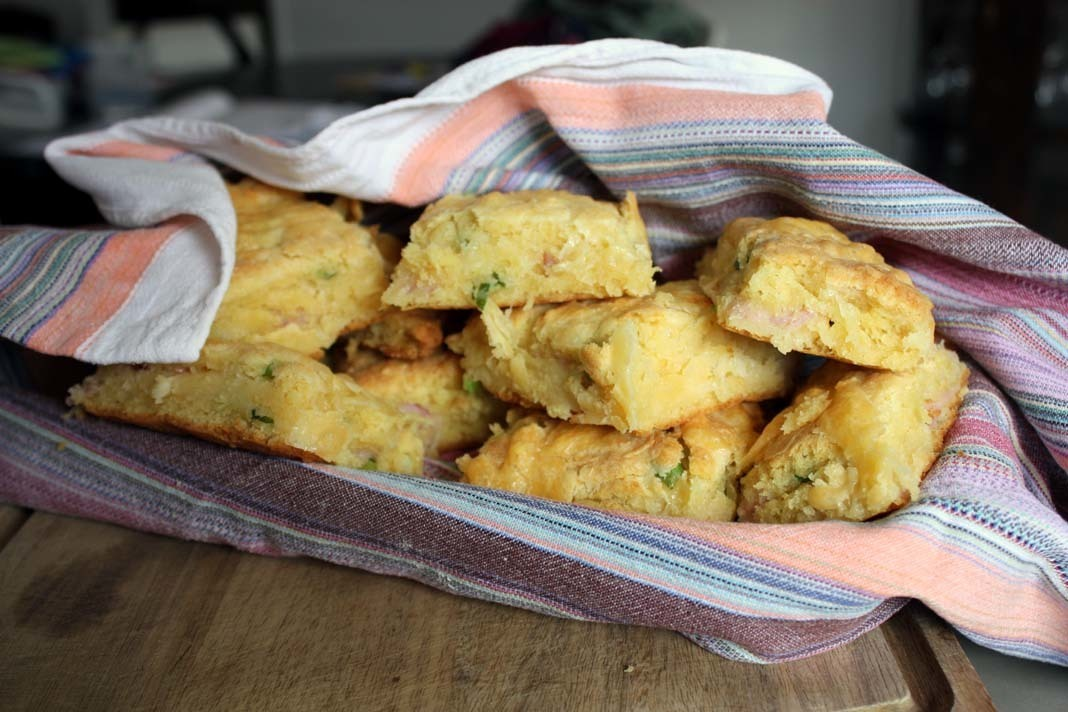 Bacon, Cheese and Green Onion Buttermilk Biscuits