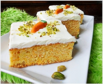 Carrot Cake mit Frischkäse-Topping (GF & Low Carb)