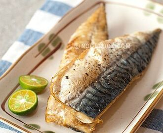 Easy baked mackerel - just olive oil, salt, pepper and bake Some time back, I saw maameemoomoo's grilled saba … | Saba fish recipe, Baked mackerel, Mackerel recipes