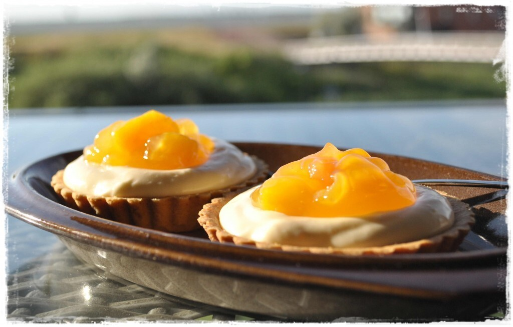 Summer Custard Fruit Tarts …