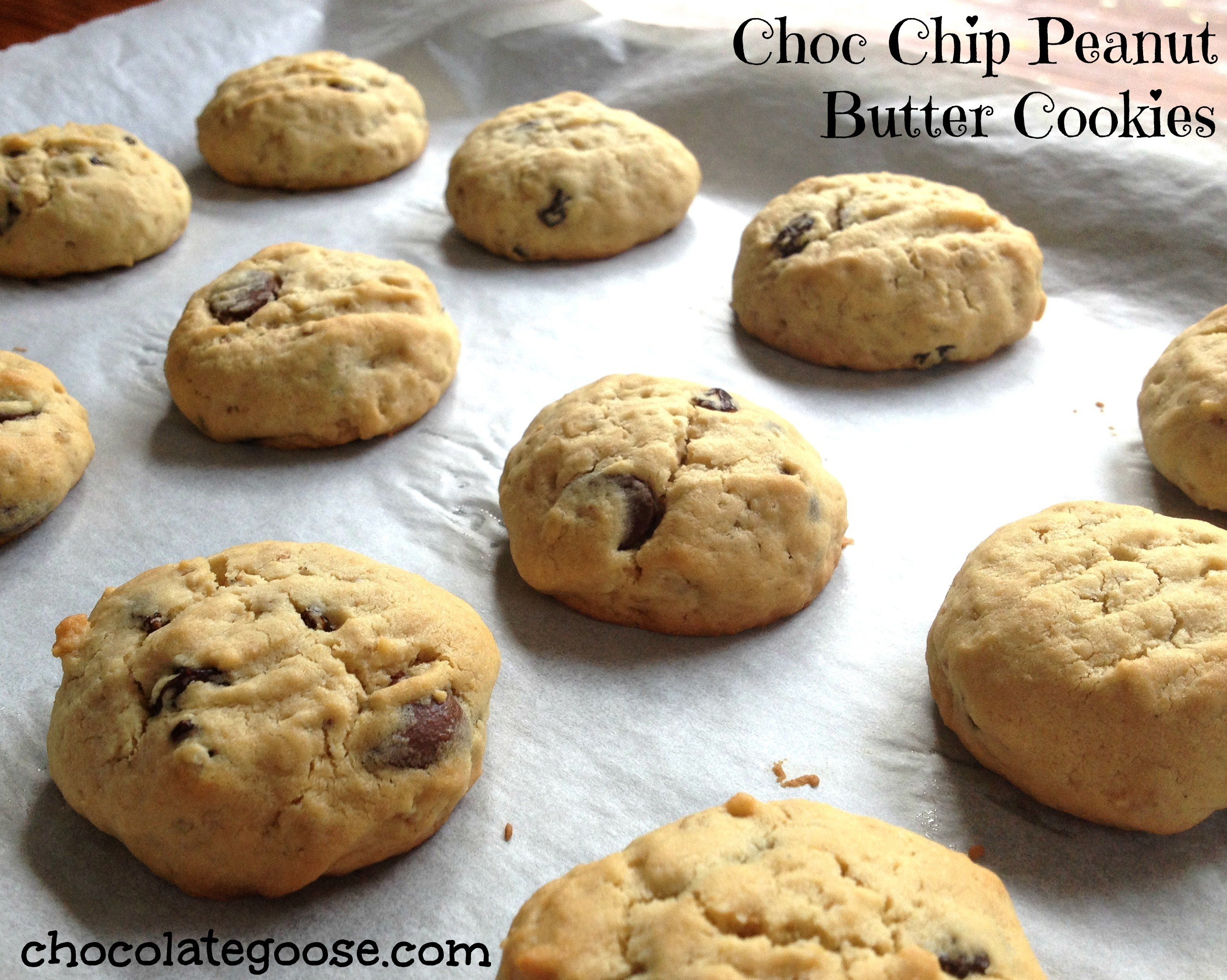 Oaty Peanut Butter and Choc Chip Cookies
