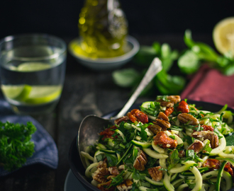 Zoodle Salad with Pecans and Sun-Dried Tomatoes