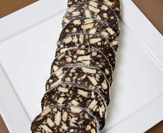 Salame de chocolate by filipemsousaboy on www.mundodereceitasbimby.com.pt