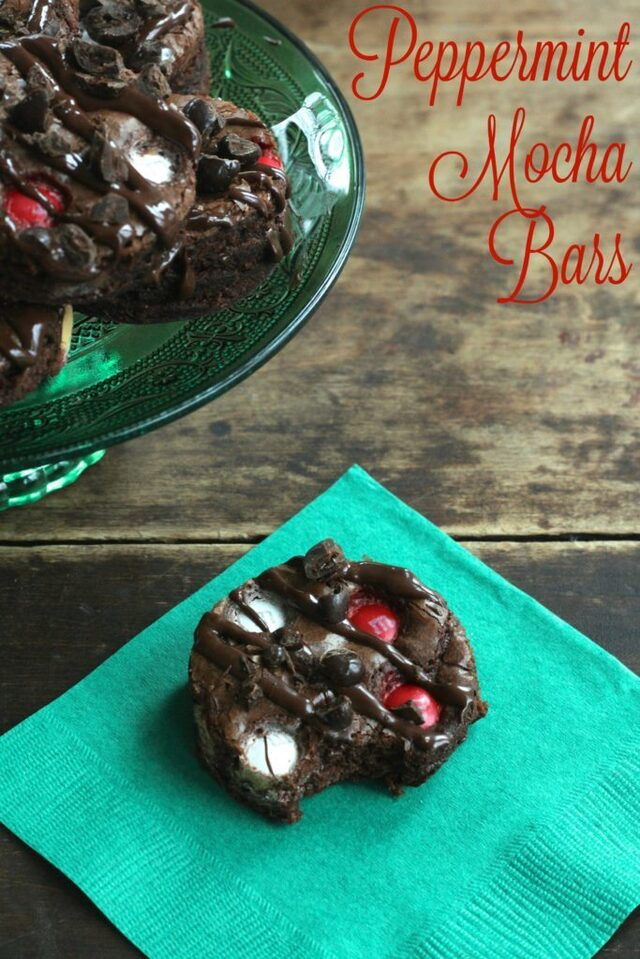 Peppermint Mocha Bars