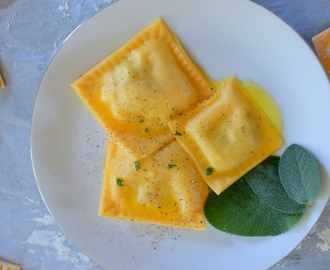 Butternut Gorgonzola Ravioli & Sage Brown Butter