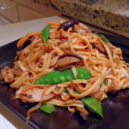 Chicken and Shiitake Lo Mein