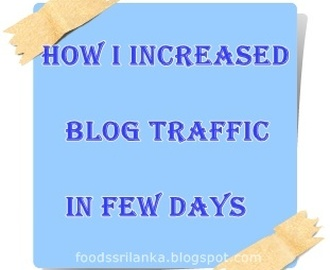 How I increased blog traffic & got the audience back in few days