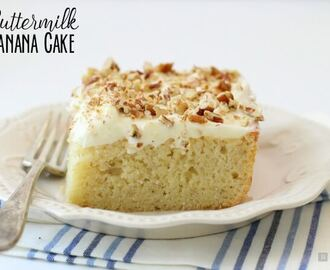 Buttermilk Banana Cake with Cream Cheese Frosting