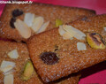 Financier au cappuccino et fruits secs