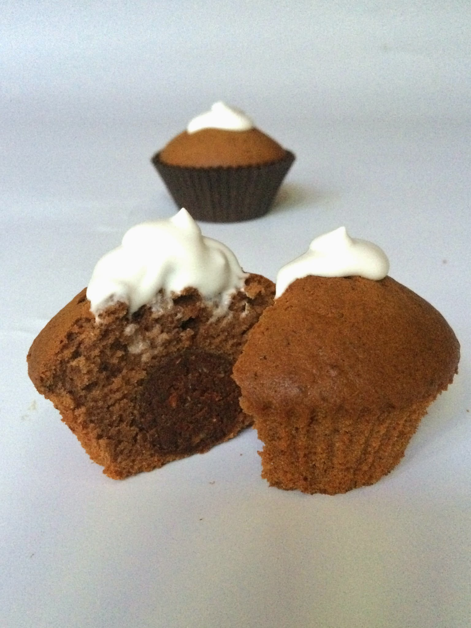 Chocolate and banana cupcakes