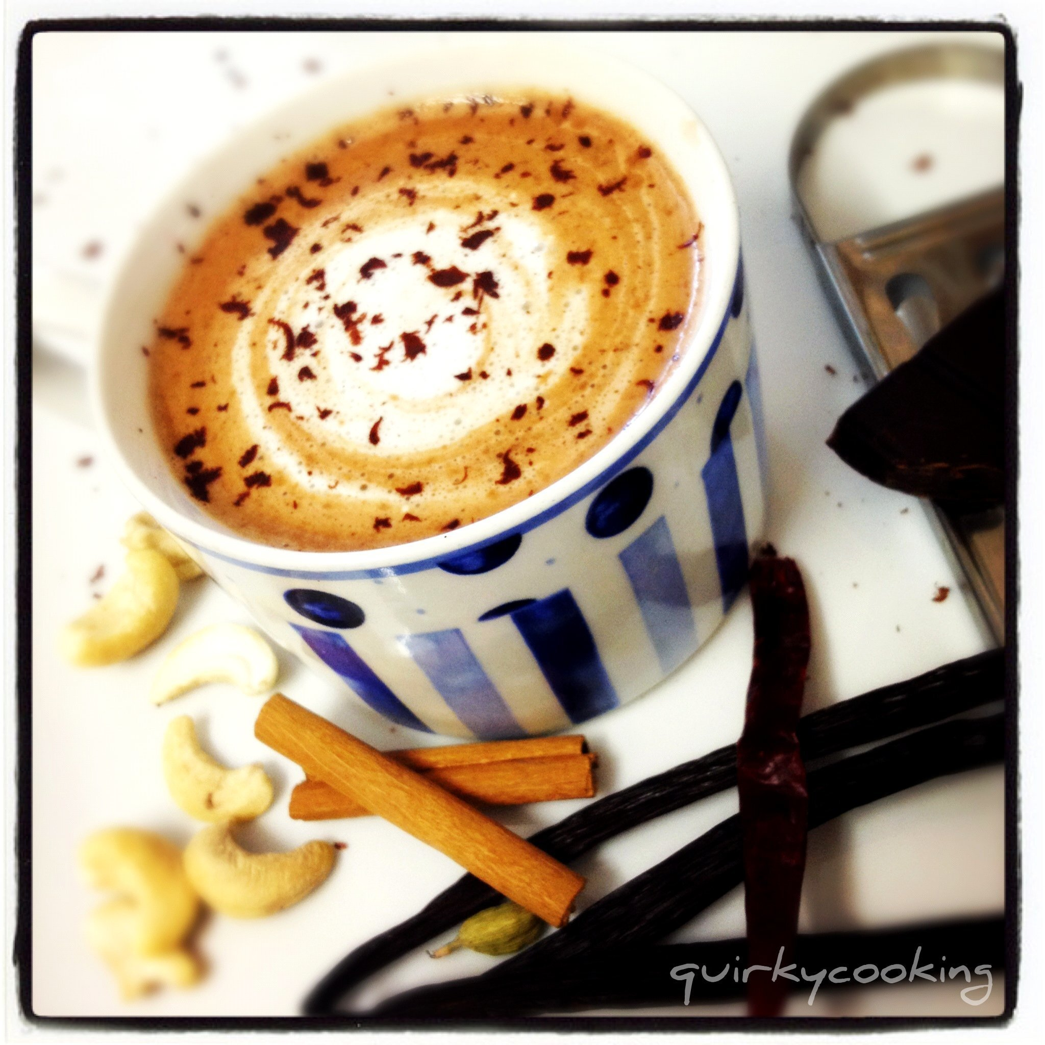 Chocolate Chilli Chai {dairy free}