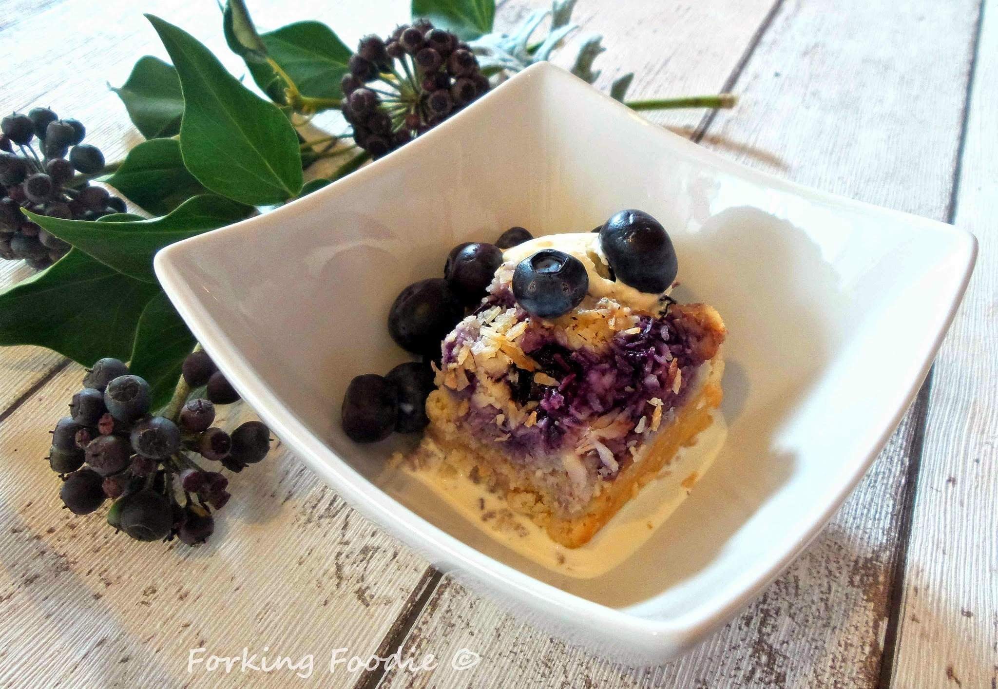 Blueberry, Lime and Coconut Cloud Pudding - Grain, Gluten and Dairy Free (includes Thermomix instructions)