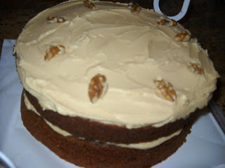 Coffee and Walnut Cake, Anna and Nigella