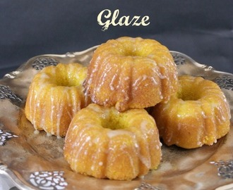 Saffron Bundtlets with White Chocolate Glaze