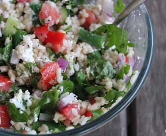 Brown rice salad, and how I got over my fear of.