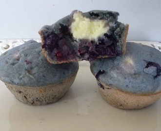 Blueberry, Cranberry and Cream Cheese Muffins