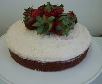 Strawberries and Cream Mud Cake