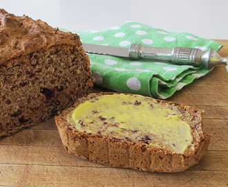 Date & Cranberry Breakfast, Morning or Afternoon Tea Loaf