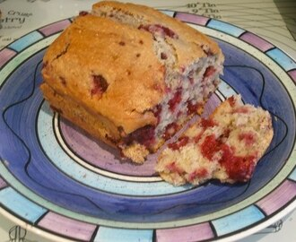 Pear, Raspberry and Coconut Loaf