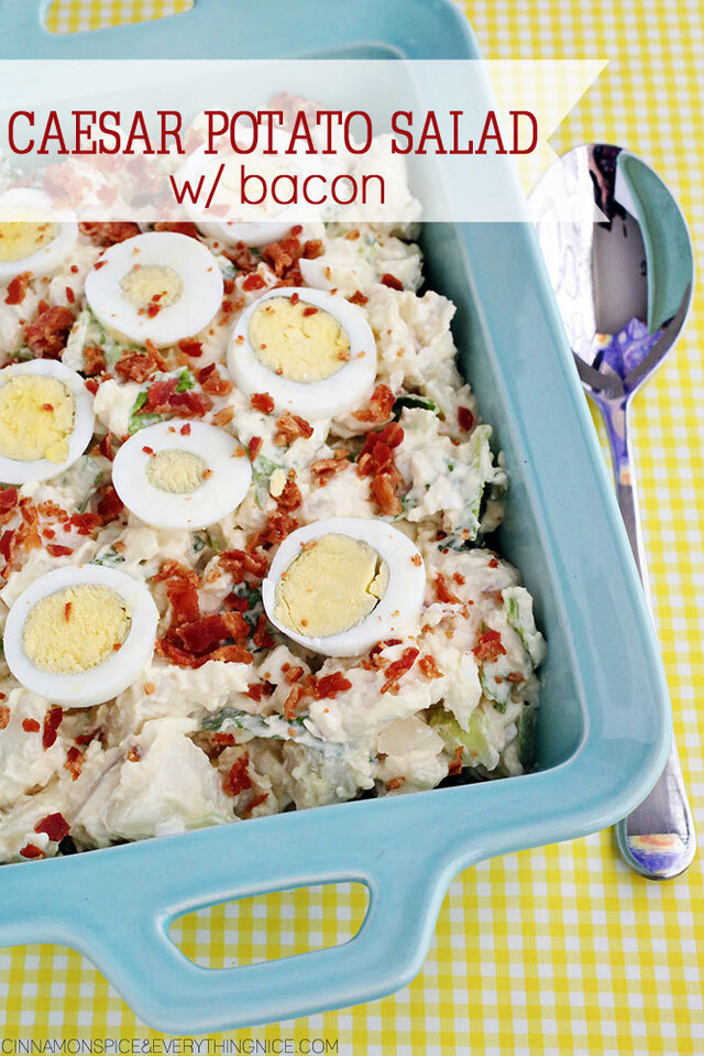 Caesar Potato Salad with Bacon