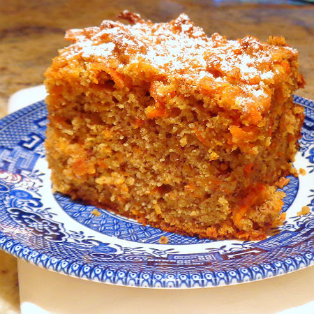Carrot-Almond Coffee Cake