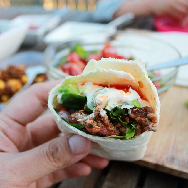 Beef & Corn Burrito Recipe