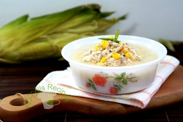 Chinese  Sweet Corn and Chicken Soup ~ 中式甜玉米鸡汤