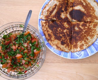 Chicken Quesadillas + Fresh Tomato Salsa.