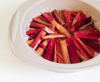 Recipe: Rhubarb upside-down cake