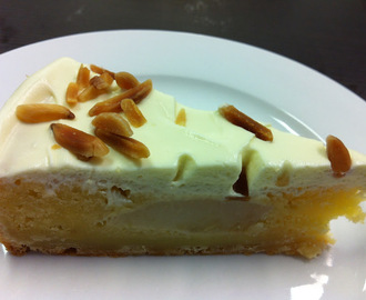 Pear, Almond and Marscapone Tart