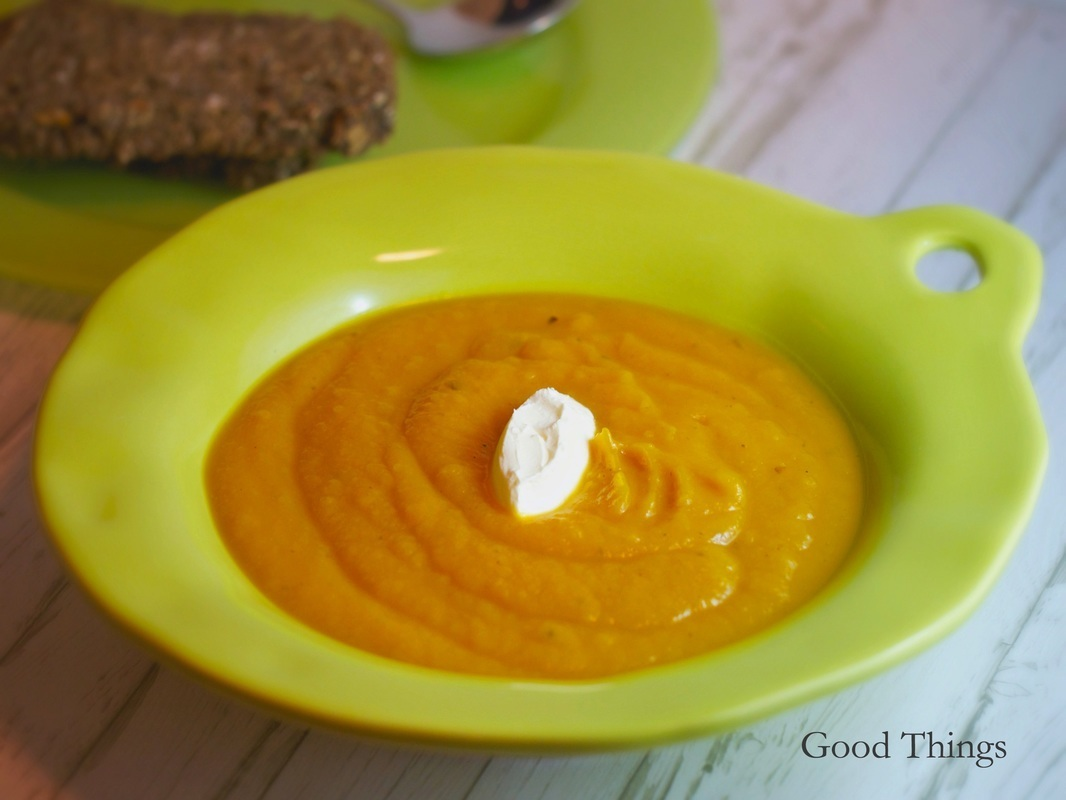 Roasted butternut pumpkin soup - simple, wholesome and delicious