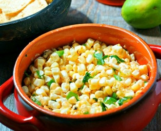 Grilled Corn Salsa #SundaySupper